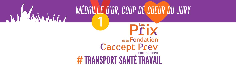 Transports BRAY récompensé par la fondation Carcept Prev Transport santé travail